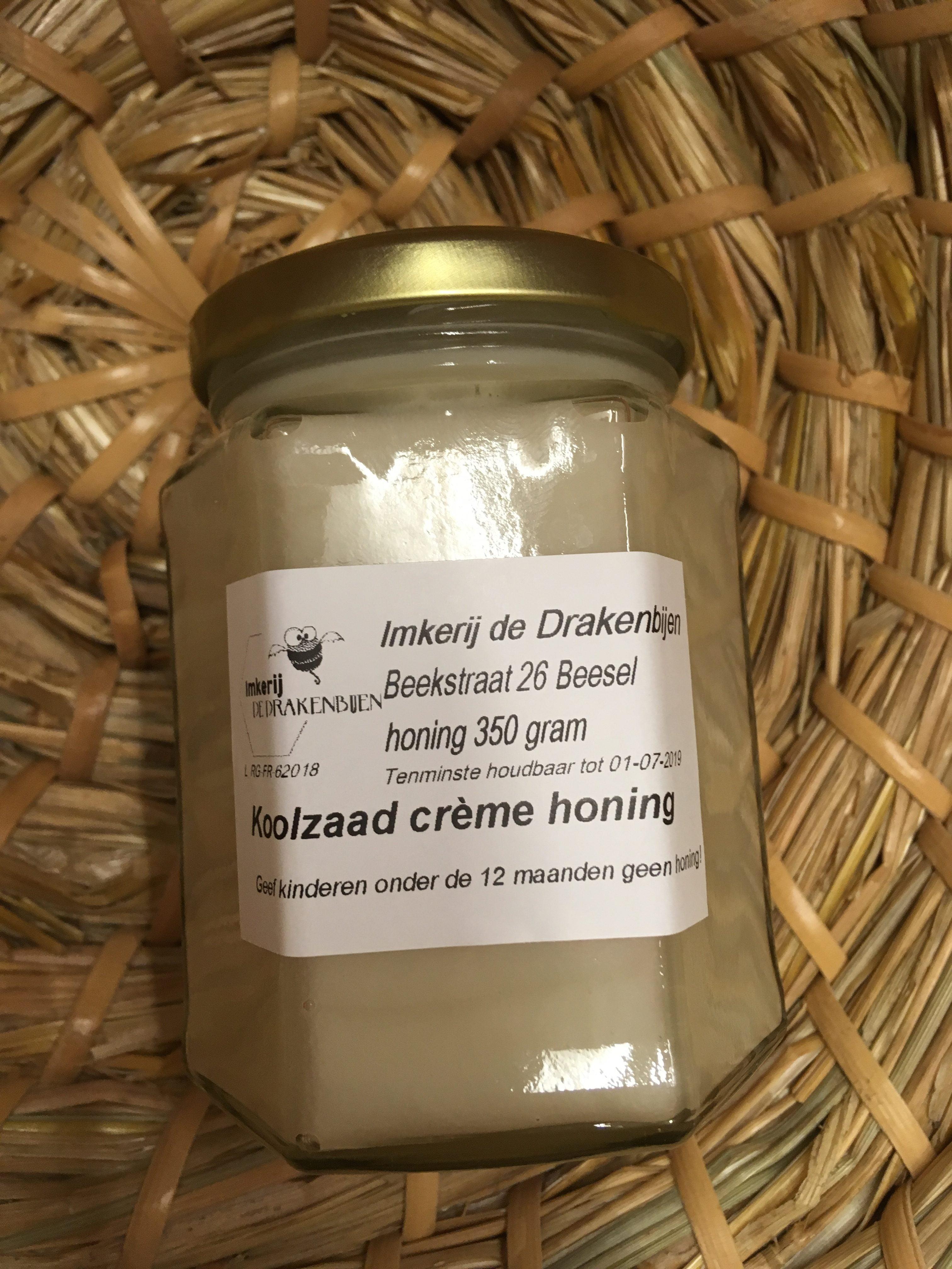Koolzaad creme honing
